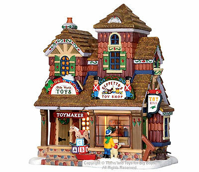 Lemax 25390 GEPPETTO'S TOY SHOP Vail Village Lighted Building Christmas Decor I