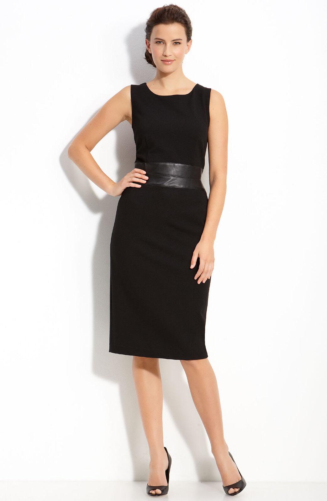 Lafayette 148 New York Leather Waist Dress ( size 8)