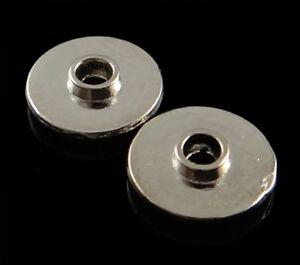 120-Metallperlen-Spacer-10mm-Silber-Scheibe-Zwischenteile-Schmuck-Basteln-F131