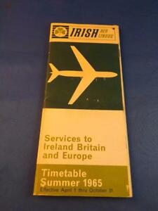 Calendario 1965.Aer Lingus Irish International Airlines Verao Calendario