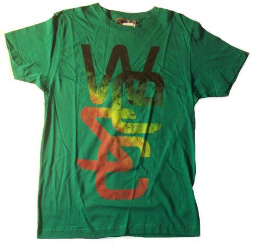 Men/'s Wesc Overlay Crew Neck S//S T Tee Shirt Green Size Small S