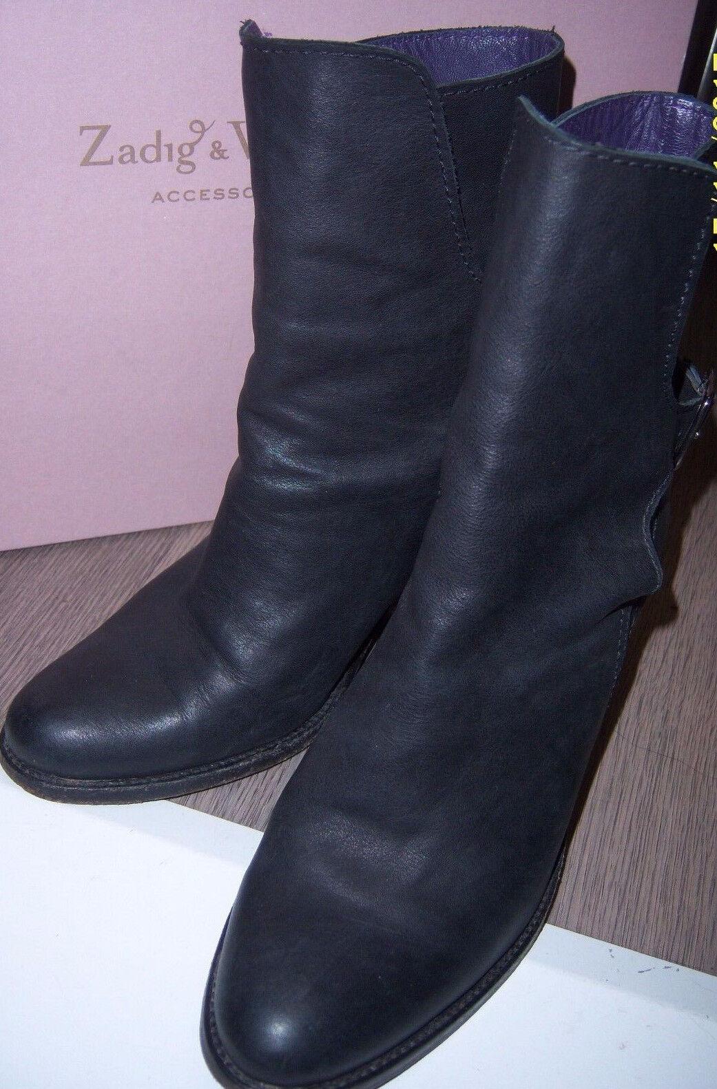 Zadig & Voltaire bottines cuir 36   Zadig & Voltaire leather Boots US5  UK3