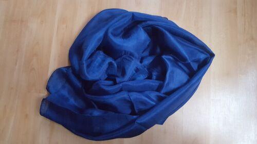 Mujer 100/% Pura Seda Bufanda Pañuelo Hijab Liso Tacto Suave Tiras 45cm X 170cm