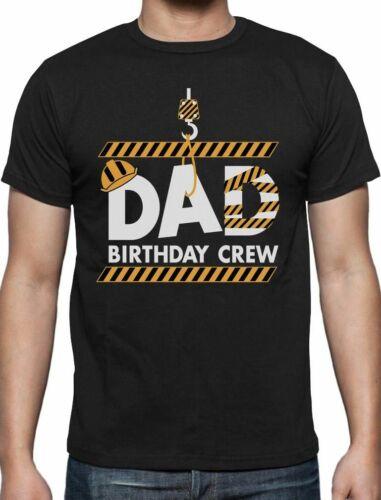 Dad Birthday Crew Construction Birthday Party T-Shirt Gift Idea