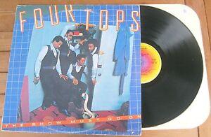 FOUR-TOPS-The-Show-Must-Go-On-1977-LP-VINYL-ALBUM-ABC-Records-ABC-476