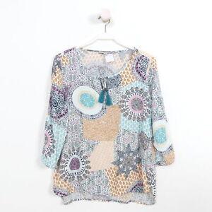 Details zu COMMA Bluse Tunika Multicolor Print Ibiza Hippie Boho Gr. 40 L