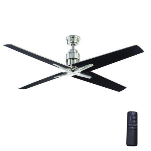 Home Decorators Collection Virginia Highland 56 in.Indoor B. Nickel Ceiling Fan