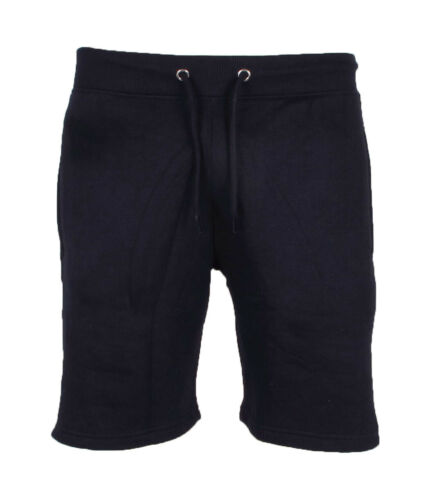 Mens Contrast Gym Fleece Jogger Shorts Sports Running Zip Pockets Size S M L XL