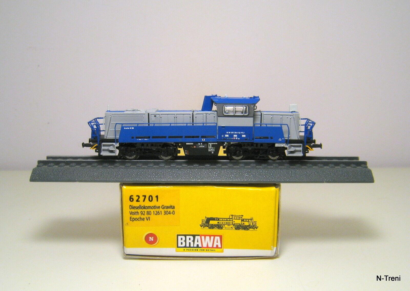 Brawa N 62701 - Loco diesel GRAVITA 10 BB Voith, matricola 90 80 1261 304-0