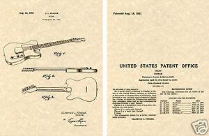 Fender Telecaster Verni Estampe Guitare Prêt à Cadre Les 1951 Clarence Tele En Voyageant