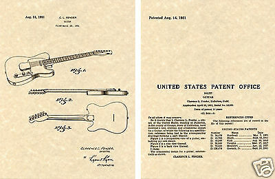 1949 Sling 1st Guitar Strap Patent Art Print READY TO FRAME!!!