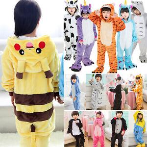 Enfant  Pyjama Licorne Flanelle Cosplay Animal Déguisement pour Fille Garçon