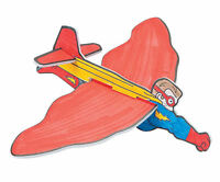 12 Color Your Own Superhero Gliders Airplanes Jets Boy's Birthday Party Favors