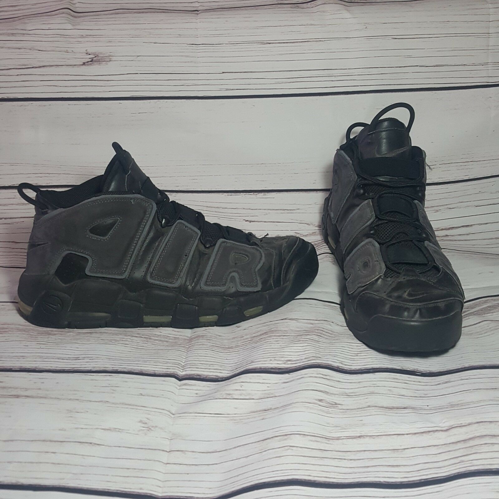 2006 Nike Air More Tempo Black/Black-anthracite 312971-002 Size 13