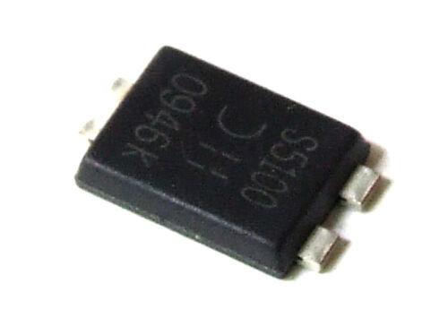 2x Diodes PDS5100-13 PowerDI5 High Voltage Schottky Barrier Rectifier Diode SMD