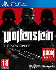 Wolfenstein el nuevo orden PS4 * En Excelente Estado *