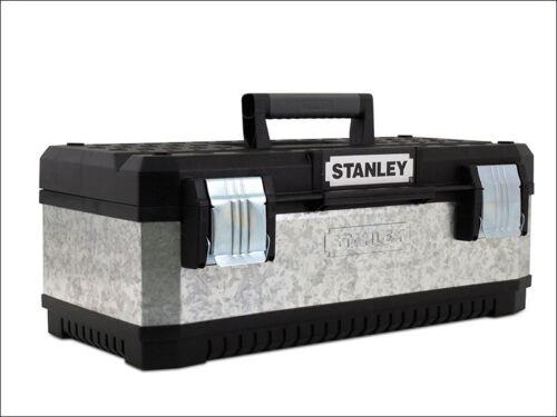 Galvanised Metal Tool Box 20in Stanley Tools 1-95-618