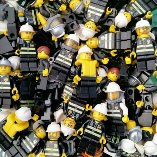 LEGO City Firefighter Minifigure x3 Lot Firemen Fire man authentic people