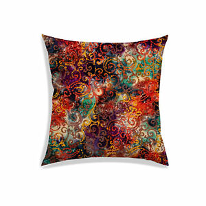 Train Cushion Cover Multicolor Satin Home Decoration Square Throw Pillow Case