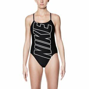 Women-039-s-Nike-Swim-Performance-Nike-Logo-Cut-Out-One-Piece