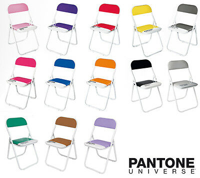 SELETTI Pantone chairs, sedia colorata pieghevole imbottita less is more design