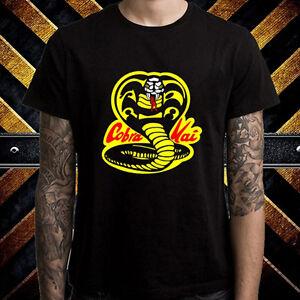 Cobra-Kai-Karate-Kid-Dojo-Logo-Movie-Men-039-s-Black-T-Shirt-Size-S-to-3XL