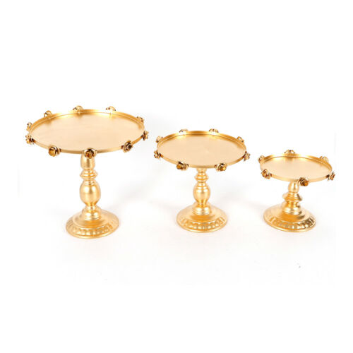 3Set Antique Cake Stand Round Cupcake Stands Metal Dessert Display Event 2 Color