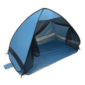Image is loading Portable-Beach-Tent-Blue-Anti-UV-Automatic-Pop-  sc 1 st  eBay & Portable Beach Tent Blue Anti-UV Automatic Pop Up Sun Protection ...