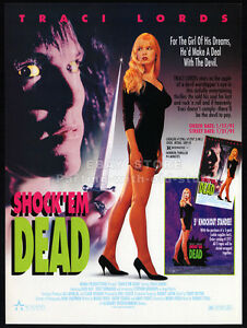 SHOCK-039-EM-DEAD-Original-1990-Trade-print-AD-promo-TRACI-LORDS-Karen-Russell