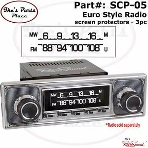 retrosound scp 05 radio vintage look dial screen protector. Black Bedroom Furniture Sets. Home Design Ideas
