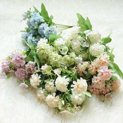 Hydrangea Artificial Flowers Ball Silk Diy Home Decor Wedding Decoration Bouquet