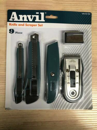 Glass scraper Set 1004 521 693 Details about  /NISP 9 Piece Anvil Knife Snap off knife