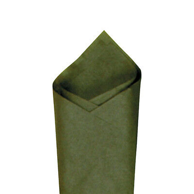 """Green Pack 20/"""" x30/"""" Olive 24 Sheets Premium Grade Color Tissue Paper"""