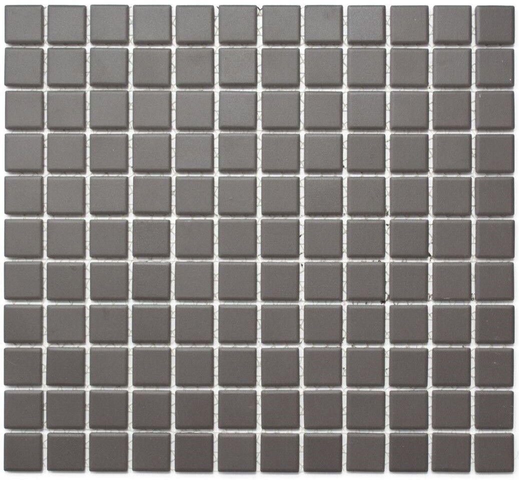 Mosaïque carreau céramique brun non vitré cuisine bain 18-CU050_f   10 plaques