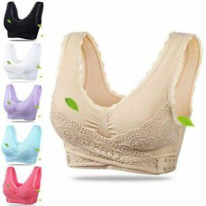 Women-Wireless-Front-Cross-Adjustable-Side-Buckle-Lace-Vest-Push-Up-Sports-Bras