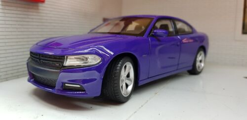 LGB 1:24 Maßstab Lila Dodge Charger V8 R/T 2016 Welly Detaillierte Spielzeugautos