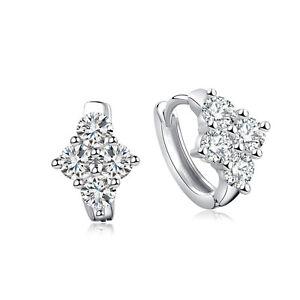 Fashion-Women-Silver-Plated-Crystal-Cubic-Zirconia-Hoop-Huggie-Earrings-Jewelry