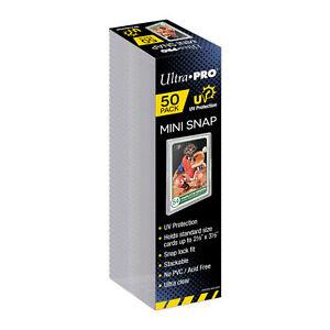NEW Ultra Pro 50-PK Mini Snap Card Display Case Sports Gaming Magic MTG Pokemon