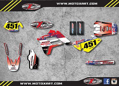 Gas Gas EC 125-200-250-300 05-06 Full custom graphics kit AUSSIE PRIDE stickers