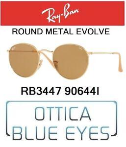 fad6cd7f8d6f Image is loading RAYBAN-round-metal-Evolve-RB-3447-90644i-sunglasses-