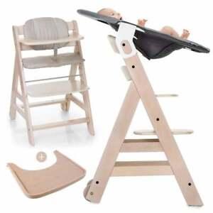 Hauck-Beta-Plus-Newborn-Set-Holz-Hochstuhl-ab-Geburt-mit-Neugeborenenaufsatz