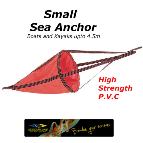 Small Sea Anchor Drogue Drift chute, 50cm Drfiting Brake, kayaks + 4,5m boats