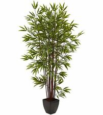 6 Ft. Bamboo Patio Balcony Home Office Floral Decor Artificial Silk Tree Plant