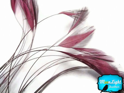 1 Dozen DUSTY ROSE Stripped Rooster Hackle Feather