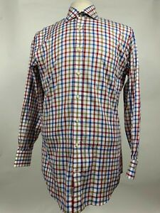 Peter-Millar-Multicolor-Plaid-Cotton-Dress-Shirt-LS-Button-Down-Mens-Size-Medium