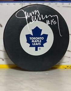 Jim McKenny - Autographed Puck - Toronto Maple Leafs Hand Signed AJ COA