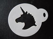 Corte láser pequeño unicornio Cabeza Diseño Pastel, Cookie, Craft & Plantilla de Pintura de cara