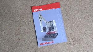 100% De Qualité Takeuchi Tb125 Entièrement Hydraulique Pelle Compacte Brochure Circa 2004-afficher Le Titre D'origine