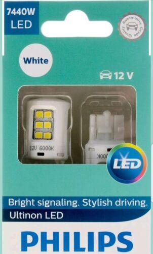 White Exterior Car Light 7440WLED 2 pc Philips Ultinon LED 7440