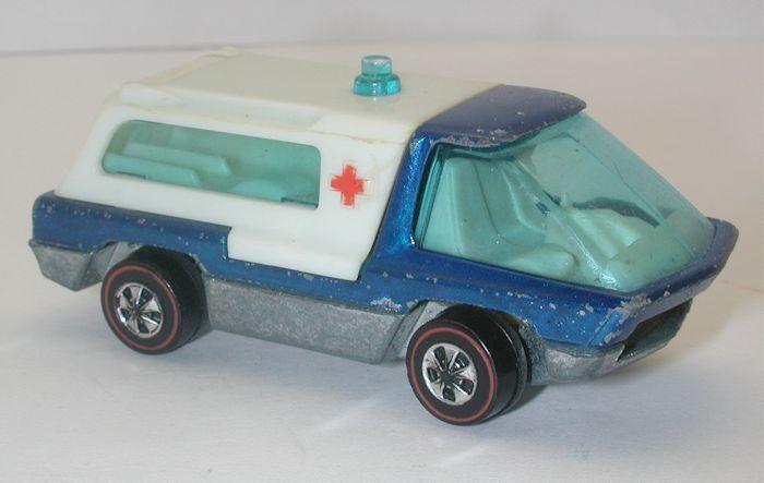 rotline hotwheels blaue 1970 krankenwagen oc8611
